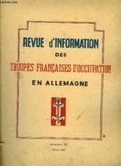 Revue D'Information Des Troupes Francaises D'Occupation En Allemagne - Numero 35 - Couverture - Format classique