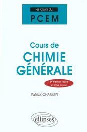 Cours De Chimie Generale 2e Edition - Intérieur - Format classique