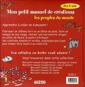 Mon petit manuel de créations ; les peuples du monde - 4ème de couverture - Format classique