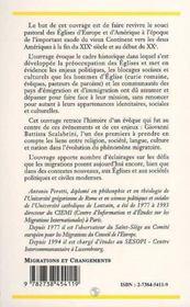 L'Eglise Et Les Migrations, Un Precurseur Giovanni Battista Scalabrini - 4ème de couverture - Format classique