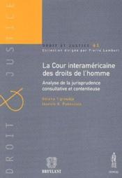 La cour interaméricaine des droits de l'homme ; analyse de la jurisprudence consultative et contentieuse - Couverture - Format classique