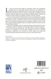 Arrets Fondamentaux Du Droit Du Travail - 4ème de couverture - Format classique