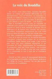 La voix du Bouddha - 4ème de couverture - Format classique