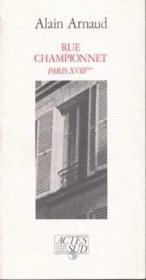 Rue Championnet Paris Xviiieme - Couverture - Format classique