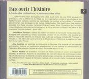 Parcourir L'Histoire Vol 2 (Cd) - 4ème de couverture - Format classique