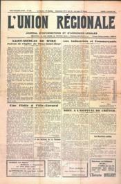 Union Regionale (L') N°1166 du 04/01/1941 - Couverture - Format classique