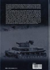 France 1940 ; les panzers - 4ème de couverture - Format classique