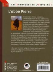 L'abbé Pierre - 4ème de couverture - Format classique