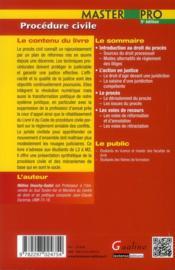 Procédure civile (5e édition) - 4ème de couverture - Format classique