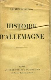 Histoire D'Allemagne. - Couverture - Format classique