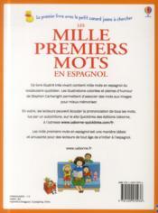 Les mille premiers mots en espagnol - 4ème de couverture - Format classique