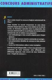 Adjoint Administratif Fonction Publique D'Etat Categorie C Nouvelle Edition Tous Ministeres - 4ème de couverture - Format classique
