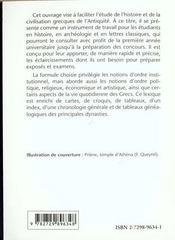 Lexique D'Histoire Et De Civilisation Grecques - 4ème de couverture - Format classique