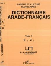 Dictionnaire (T5) Arabe-Francais - Couverture - Format classique