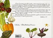 Légumes des 4 saisons - 4ème de couverture - Format classique