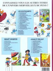 Les Schtroumpfs t.22 ; le Schtroumpf reporter - 4ème de couverture - Format classique