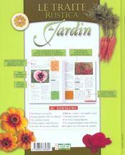 Le traité Rustica du jardin. 1000 conseils-clés, plates-bandes, massifs, .... Index - 4ème de couverture - Format classique