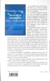 Veritables Recits De Magies Noires - 4ème de couverture - Format classique