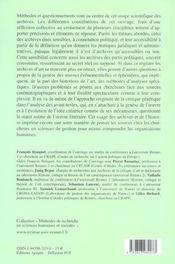 L'exploitation scientifique des archives - 4ème de couverture - Format classique