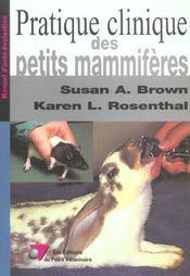 Pratique Clinique Des Petits Mammiferes - Intérieur - Format classique