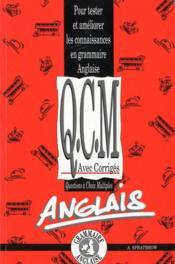 QCM anglais grammaire - Couverture - Format classique