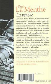 La Venelle - 4ème de couverture - Format classique