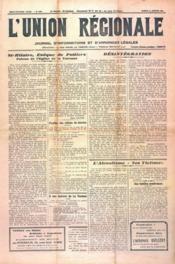 Union Regionale (L') N°1167 du 11/01/1941 - Couverture - Format classique