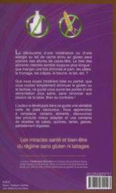 Les miracles du régime sans gluten ni laitages - 4ème de couverture - Format classique