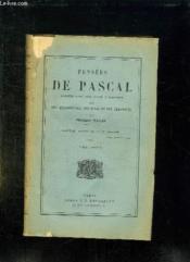 Pensees De Pascal. Tome 2. - Couverture - Format classique