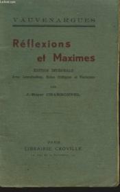 Reflexions Et Maximes. - Couverture - Format classique