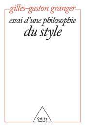 Essai D'Une Philosophie Du Style - Couverture - Format classique