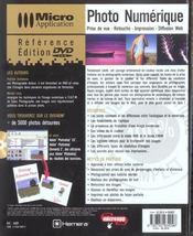 Photo numerique avec dvd - 4ème de couverture - Format classique