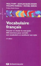 Vocabulaire français ; trouver et choisir le mot juste (16e édition) - Intérieur - Format classique