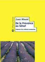 De la Provence au Sénat - Couverture - Format classique