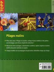 Pliages malins - 4ème de couverture - Format classique