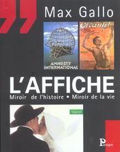 L'Affiche ; Miroir De L'Histoire ; Miroir De La Vie - Intérieur - Format classique