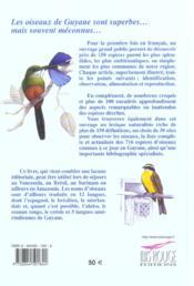 Portraits d'oiseaux guyanais - 4ème de couverture - Format classique