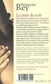 La Peur Du Noir - 4ème de couverture - Format classique