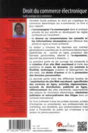 Droit du commerce électronique ; guide pratique du e-commerce - 4ème de couverture - Format classique
