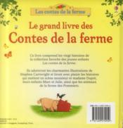 Le grand livre des contes de la ferme - 4ème de couverture - Format classique