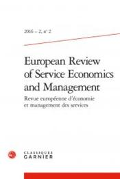 Vente livre :  European review of service economics and management N.2  - Collectif