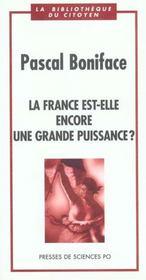 La France Est Elle Encore Une Grande Puissance - Intérieur - Format classique