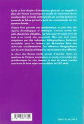 L'Histoire Economique Et Sociale En Fiches Du Xixe Siecle A Nos Jours - 4ème de couverture - Format classique