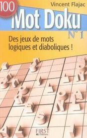 100 mot doku. 1. 100 mot doku. des jeux de mots logiques et diaboliques ! - Intérieur - Format classique