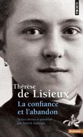 Thérèse de Lisieux ; la confiance - Couverture - Format classique