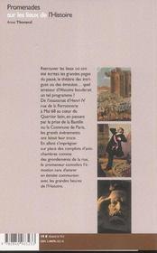 Promenades sur les lieux de l'histoire ; d'Henri IV à Mai 68, les rues de Paris racontent l'histoire de France - 4ème de couverture - Format classique