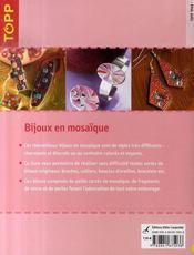Bijoux en mosaïque - 4ème de couverture - Format classique