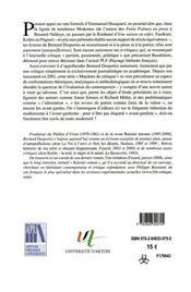 Bernard Desportes Autrement - 4ème de couverture - Format classique