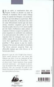 Ombre Du Prince (L') - Enquete Du Mandarin Tan (Une) - 4ème de couverture - Format classique