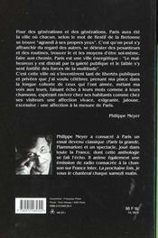 Paris la grande - 4ème de couverture - Format classique